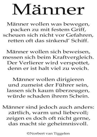 Gedichte für männer