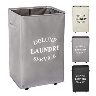 Wowlive Large Rolling Laundry Hamper With Wheels Collapsible