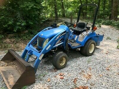 Sponsored Ebay Ford New Holland 4x4 Tractor Tz18da With W 385