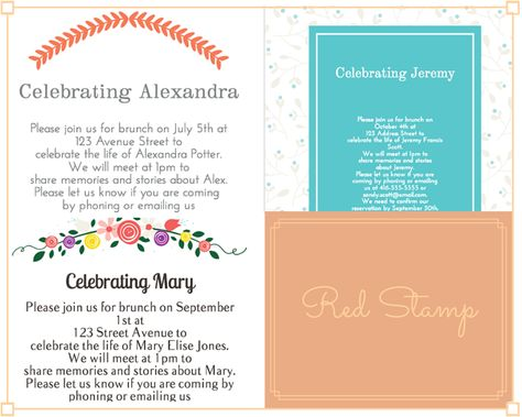 39 Best Funeral Reception Invitations Reception invitations - funeral reception invitation