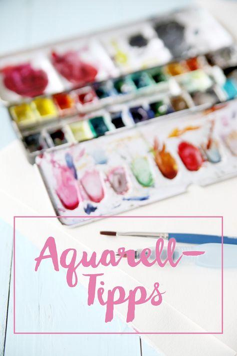 Handletteringkarte Mit Aquarellfarben Hand Lettering Baby Cards
