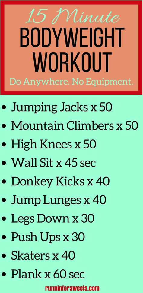 15 Minute Bodyweight Workout You Can Do Anywhere