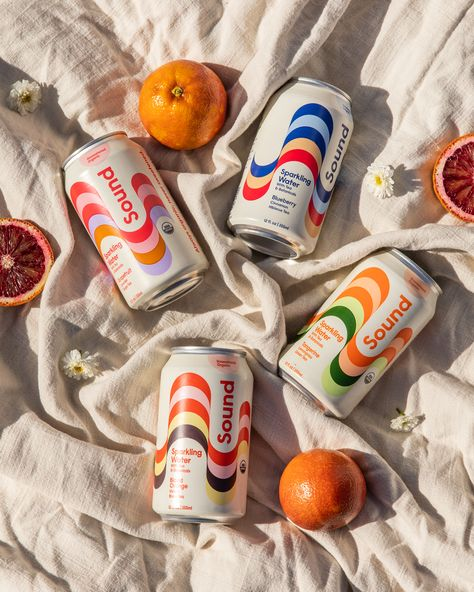 Sound Sparkling Beverages Retro-Inspired Rebrand Gives Off The Right Vibe
