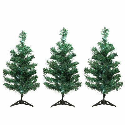 The Holiday Aisle Christmas Tree Driveway Or Pathway Marker Lighted Display Christmas Tree Set Outdoor Christmas Outdoor Christmas Tree Decorations