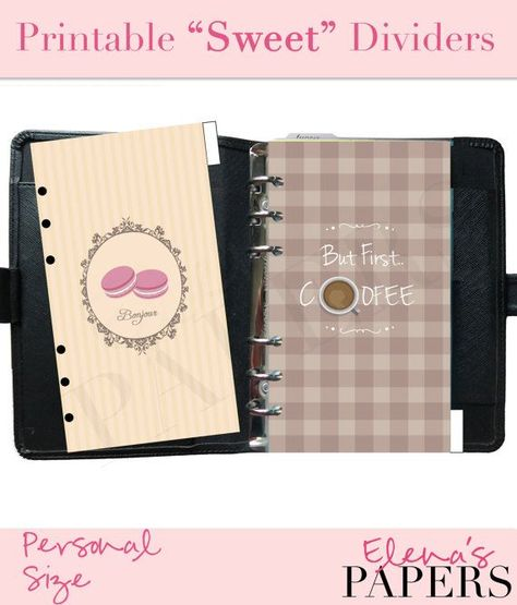 List of Pinterest filofax personal printables dividers style images