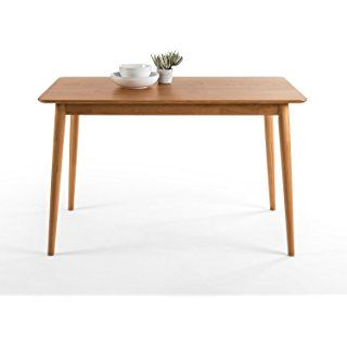 Zinus Mid Century Modern Wood Dining Table Natural Thiết Kế