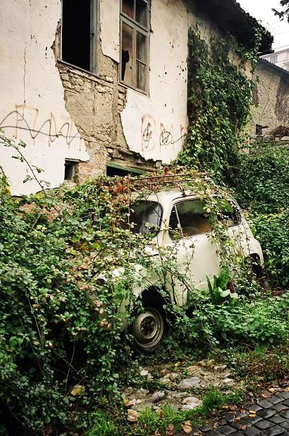 abandoned places :::: christiancross :::: Abandoned house and car, Ohrid Macedonia, Eastern Europe Abandoned Mansions, Abandoned Buildings, Abandoned Houses, Abandoned Places, Old Houses, Abandoned Ohio, Abandoned Vehicles, Abandoned Castles, Haunted Places