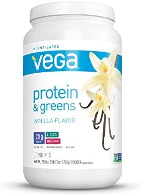 Amazon Com Vega Protein Greens Vanilla 25 Servings 26 8 Ounce Vegan Plant Base In 2020 Plant Based Protein Powder Vega Protein And Greens Protein Powder Shakes