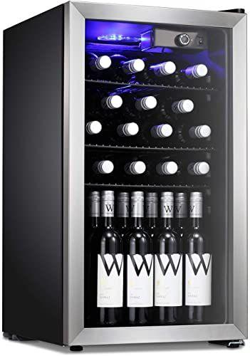 Buy Antarctic Star 26 Bottle Wine Cooler Cabinet Beverage Refigerator Mini Fridge Small Wine Cellar Soda Beer Counter Top Bar Quiet Operation Compressor Freesta In 2020 Best Wine Coolers Wine Fridge Beverage Refrigerator