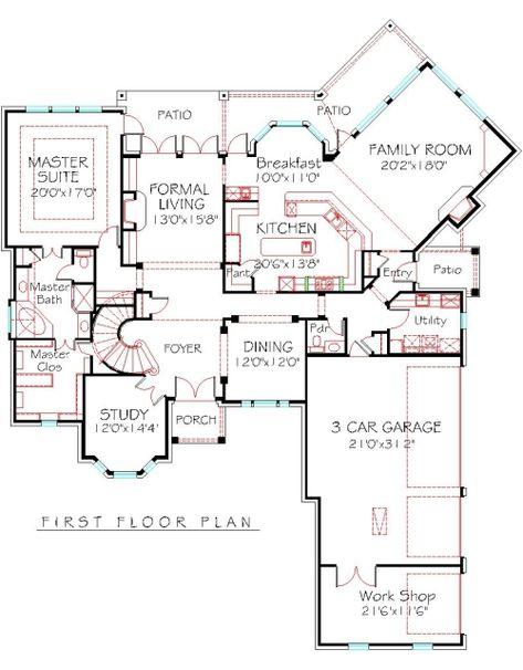 2 Story 4 Bedroom House Plans House Design Pinterest Country - new blueprint for 3 car garage