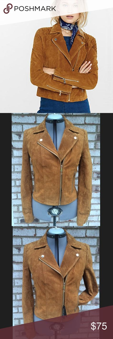 b3bc13b90eb ✨FALL SALE✨Express Genuine Suede Camel Coat Jacket NWT Perfect condition  ✨REAL SUEDE
