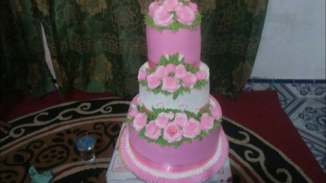 Kue Pengantin 3 Tingkat Pink Youtube Wedding Cakes Cake