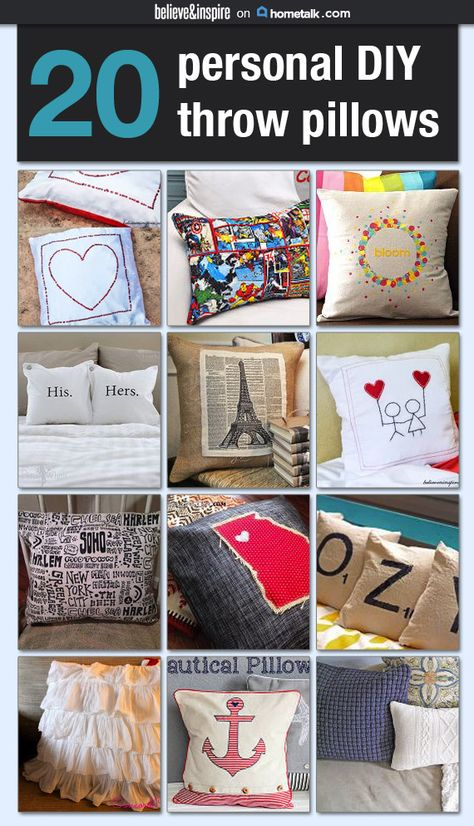 20 Personal DIY Throw Pillows