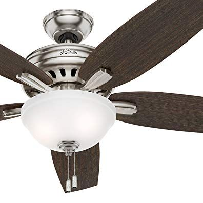 Hunter 56 In Ceiling Fan With Bowl Light Kit In Brushed Nickel