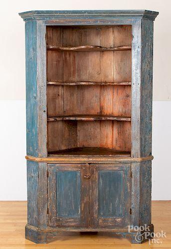 Painted Pine One Piece Corner Cupboard Corner Cupboard Antique Cupboard Refinishing Furniture Diy