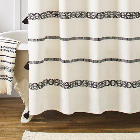Home Farmhouse Shower Curtain Black Shower Curtains Unique