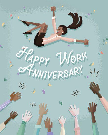 Groupgreeting Anniversary Card Work Anniversary Work Anniversary Cards Happy Anniversary Wishes