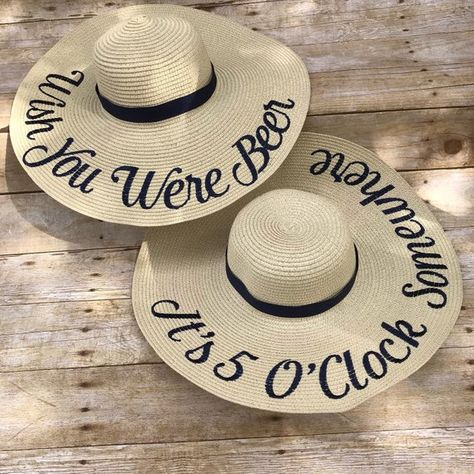 5a937757 Custom Floppy Sun Hat, Statement Floppy Beach Hat, Personalized Hat, Brides  Gift, Mothers Day Gift, Gift for Her, Bridesmaids, Custom Hat