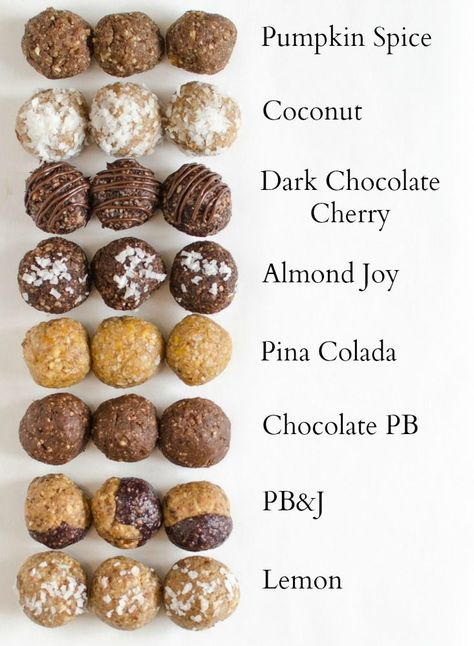 Healthy Energy Bites You Can Make at Home! 8 perfect Energy Bites Recipes all in one post! The PB&J is my perfect Energy Bites Recipes all in one post! The PB&J is my favorite! Weight Watcher Desserts, Caramel Vegan, Peanut Butter Energy Bites, Peanut Butter Power Balls, Protein Bites, Healthy Energy Bites, Vegan Energy Balls, Healthy Protein Balls, Oatmeal Energy Bites