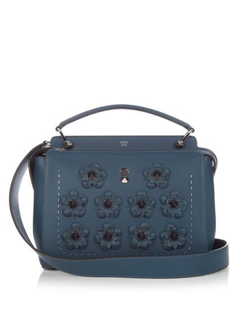 792d237257f Dotcom Flowerland-embellished leather bag