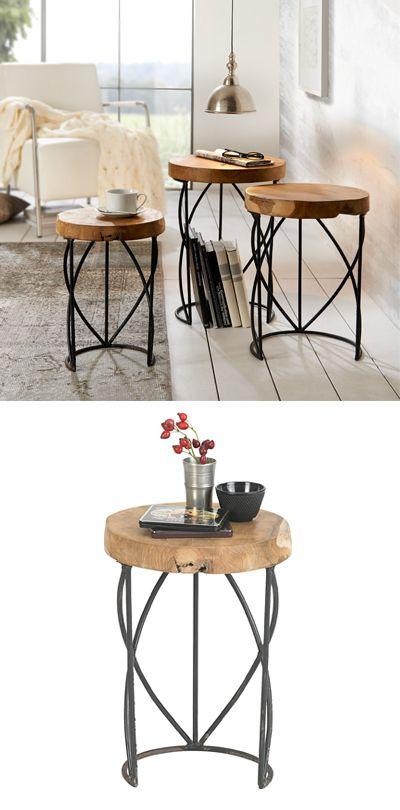 2er Set Couchtisch Jamie Rund Metall Beistelltisch Sofa Tisch Couchtisch Set Couchtisch Metall