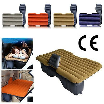 Car Air Bed Inflatable Mattress Back Seat Cushion Two Pillows For Travel Camping Camping Pillows Tent Camping Beds Car Mattress