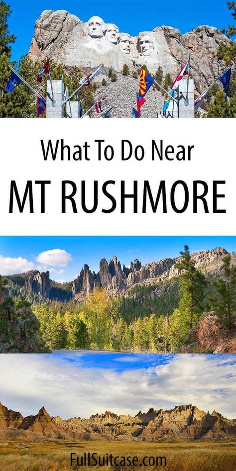 Visiting Mount Rushmore and wondering what to see and what are the best things to do nearby? Or maybe looking for Black Hills itinerary ideas? This guide should answer all your questions. South Dakota Vacation, South Dakota Travel, North Dakota, Bad Lands South Dakota, Keystone South Dakota, New Orleans, New York, Cool Places To Visit, Places To Travel
