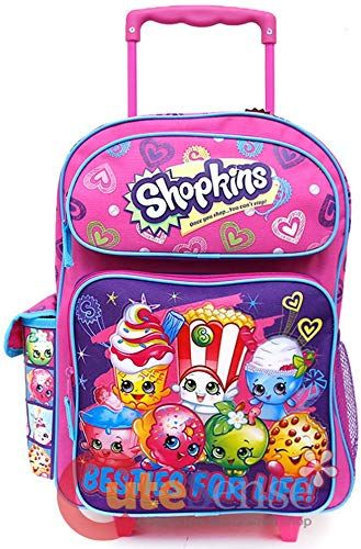 "Shopkins Girls 16/"" Canvas School Backpack With Bonus Lunch Bag"