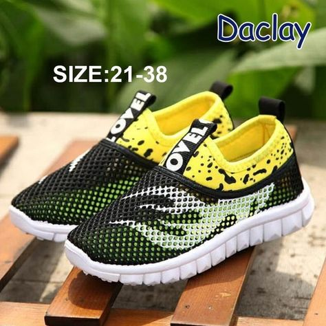 Quality.A Boys Girls Running Shoes Breathable Mesh Casual Sneakers Light Weight School Sport Walking Shoes