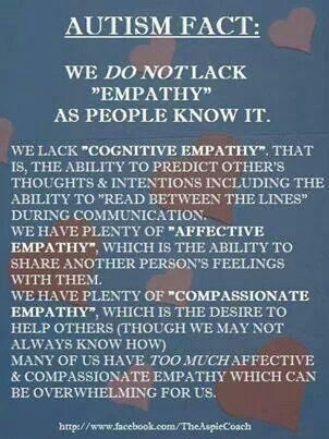 Information that should be passed around more, I am not apathetic, I just have a different way on showing emotions, and helping others.