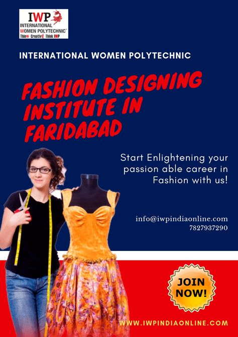 International Women Polytechnic Iwp Is The Top Fashion Designing Institute In Faridabad Offering A Comprehensive Course For The Fas Fashion Designing Institute