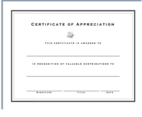 Get Certificate Appreciation Template Word Excel Project