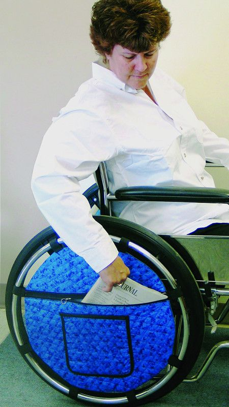 Accessori Per Sedie A Rotelle.Rose Healthcare R1023 Wheelchair Wheel Pouch Sedie A Rotelle