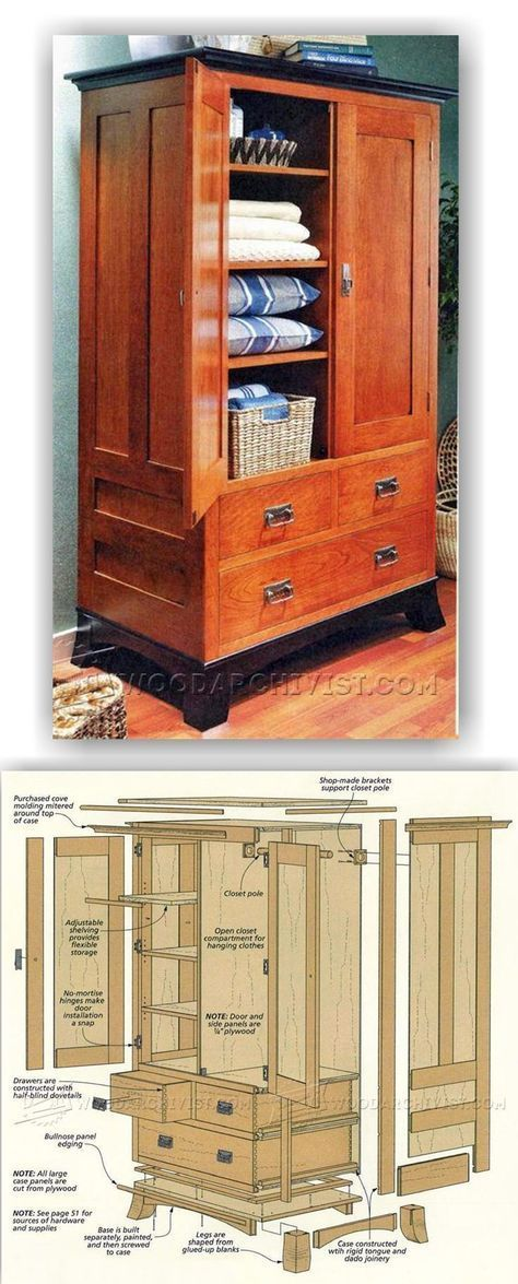 Cherry Armoire Plans - Furniture Plans and Projects | WoodArchivist ...