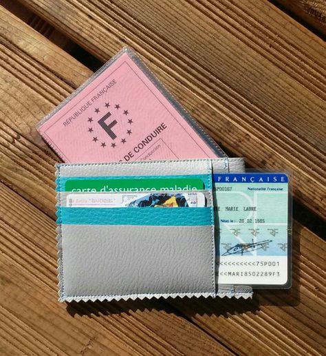 Portefeuille Porte cartes Carte grise Homme Femme