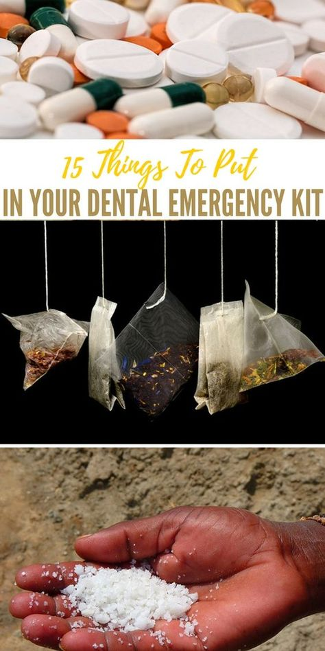 15 Things To Put In Your Dental Emergency Cook Emergency Preparedness Food, Emergency Preparation, Emergency Supplies, Survival Food, Survival Prepping, Survival Skills, Emergency Kits, Doomsday Prepping, Urban Survival