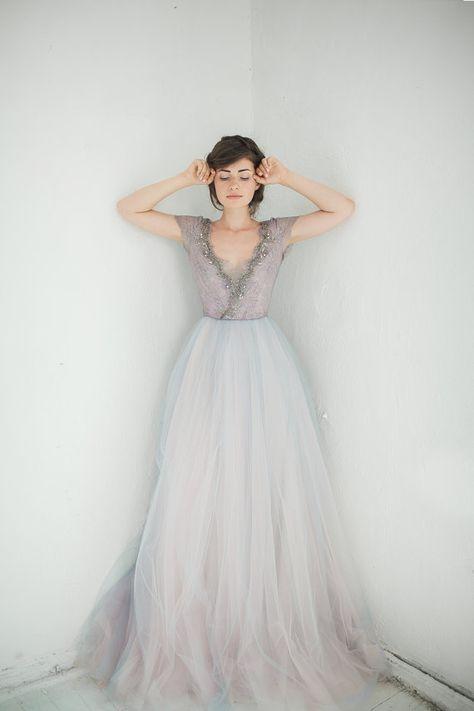 Tulle wedding gown // Lavanda limited edition por CarouselFashion