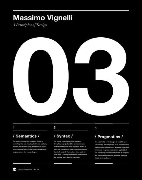 Massimo Vignelli Principals of Design Poster, Helvetica, Typographic, Funny, Quote, Modern Art, Print, Architecture, Italian, Graphic Design