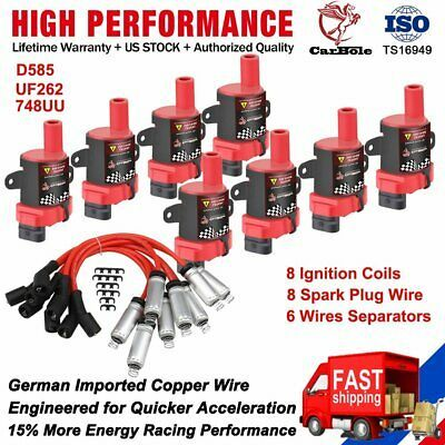 Set 8 Spark Plug Wire Set 9748rr Replace Fits Gm Chenvy Gmc