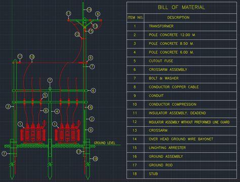 Pin lisääjältä linecad taulussa CAD Drawing Pinterest - bill of material