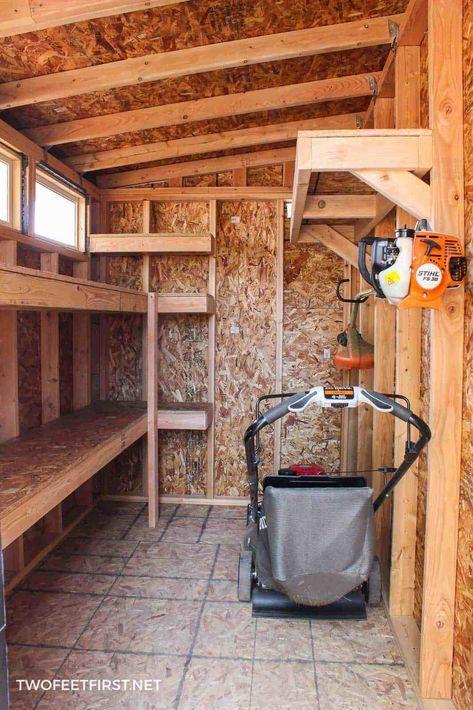How To Build Storage Shelves In A Shed Or Garage Навесы для
