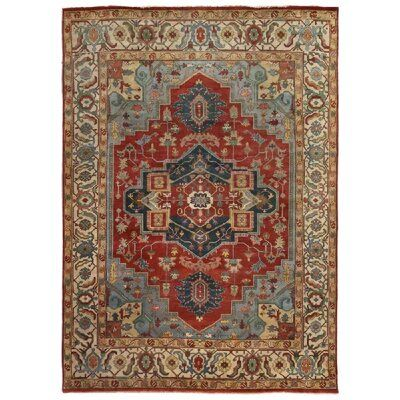 Exquisite Rugs Serapi Oriental Hand Knotted Wool Dark Red Area Rug Exquisite Rugs Red Area Rug Rugs