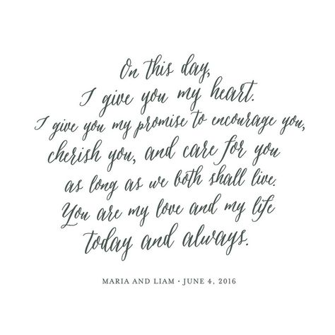 Your Vows as an Art Print by Minted for Minted