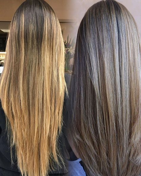 Her hair may still look long but we cut off a few inches & added layers! Then finished with a partial Balayage using Wella freelights and…