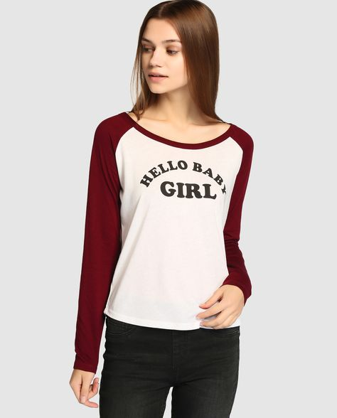 e02cd9490 Camiseta de mujer Green Coast con print de letras y manga ranglan · Green  Coast · Moda · El Corte Inglés