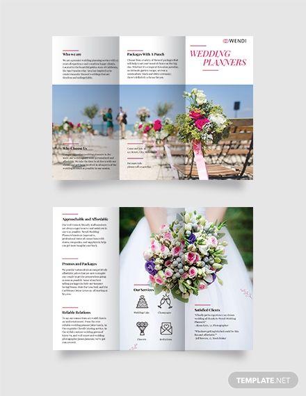 Wedding Planners Tri Fold Brochure Wedding Planner Free Wedding