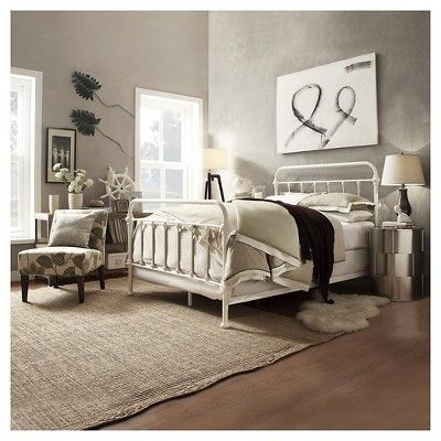 Tilden Standard Metal Bed - White (Full)