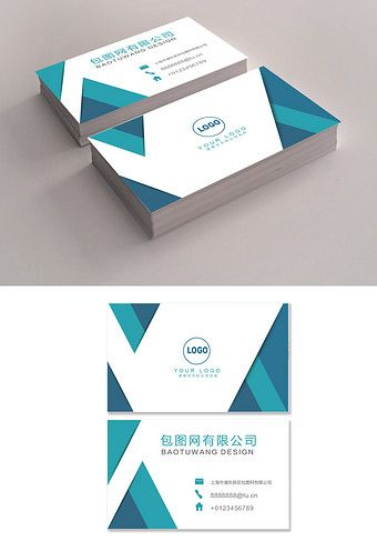 Business Card Business Company General Manager Blue Ai Free Download Pikbest Printable Business Cards Business Card Template Make Business Cards