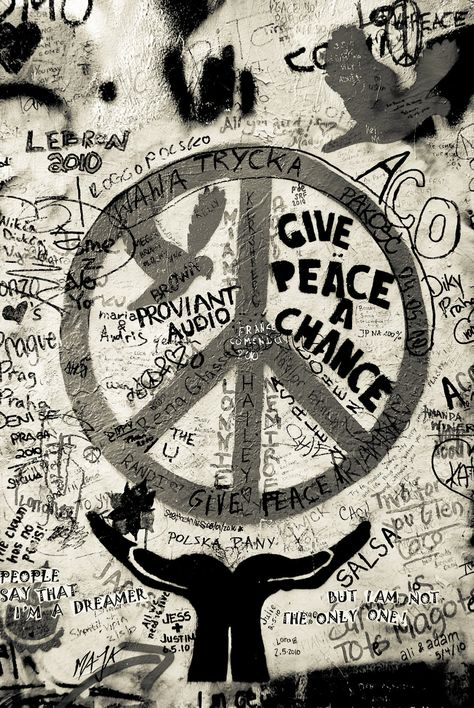 American Hippie Art....Peace Sign