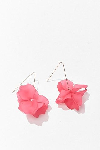 Forever 21 Floral Wire Drop Earrings Fuchsia Gold 6 99 Usd Forever 21 Floral Drop Earrings Floral Wire